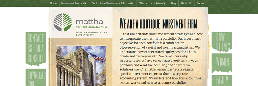 Capital Management Web Site Design and Development